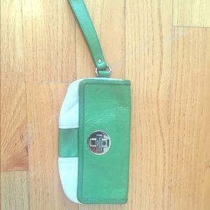Kate spade Kelly green wristlet